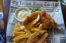 Traditional Fish & Chips with newspaper wrapping