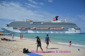 The Carnival Breeze - taken in Grand Turk